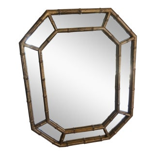 Bamboo Hollywood Regency Vintage Mirror For Sale