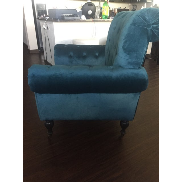 Magnolia Home Upholstered Teal Chair - Image 3 of 3