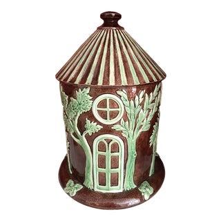 Art Nouveau Majolica Folly Jar For Sale