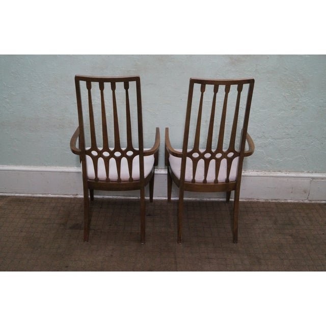 White Thomasville Mid Century Hollywood Regency Chairs For Sale - Image 8 of 10