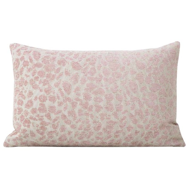Pair of custom-made pillows in a Cougar Chenille in the Blush colorway. Meticulously handcrafted with serged interior...