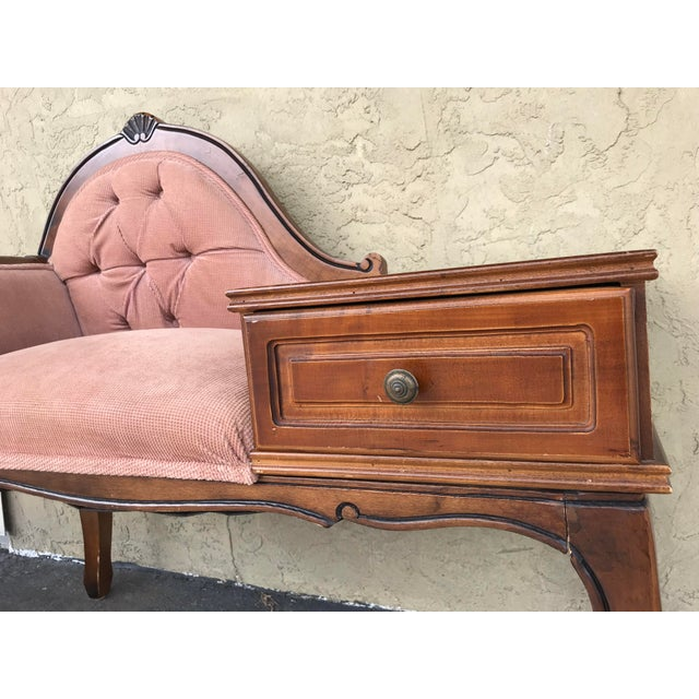 Wood Vintage Gossip /Telephone Chair ,Queen Anne ,Victorian Style For Sale - Image 7 of 10