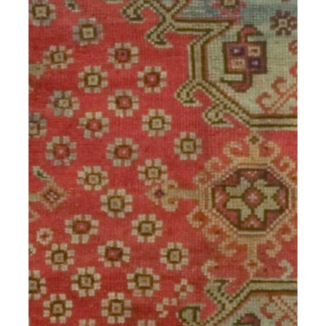 1900 - 1909 Antique Turkish Red Oushak Rug, 8'4 X 11' For Sale - Image 5 of 6