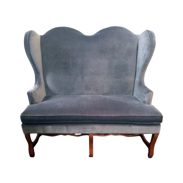 Lee Industries High Back Settee For Sale