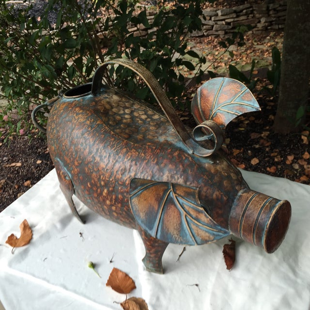 Vintage Copper Pig Watering Can - Image 5 of 7