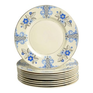 1930s Syracuse Lady Mary Dinner Plates - Set of 10 For Sale
