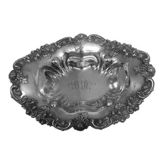1930s Black Starr and Frost Sterling Chrysanthemum Bowl For Sale