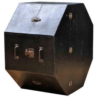 Vtg 1930s Oddball Wooden Octagonal Case Box For Sale