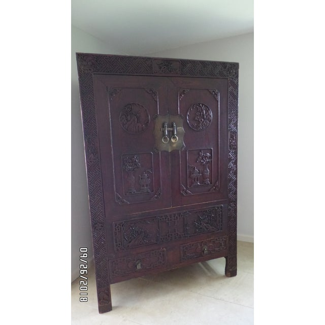 Antique Chinese Wardrobe- Wedding Chest For Sale - Image 13 of 13