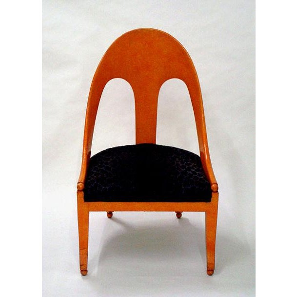 Michael Taylor for Baker Neoclassic Spoonback Chairs - a Pair For Sale - Image 9 of 9