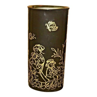 "Edna Hibel Rosenthal ""Festival Annual"" Golden Vase For Sale"