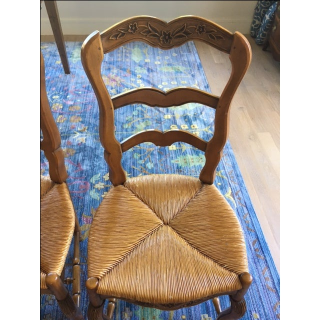 Pierre Deux French Country Dining Chairs - 6 For Sale - Image 5 of 11