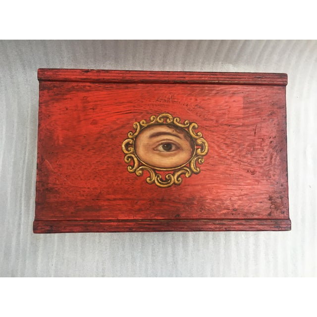 Victorian Antique Chinese Red Lacquer Box For Sale - Image 3 of 11