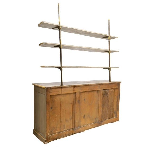 French 19th Century Louis Philippe Gray Painted Shelved Cabinet For Sale - Image 3 of 6