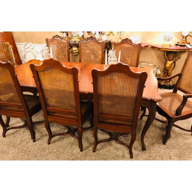 Country French Dining Table and Eight Chairs, Dining Room Set