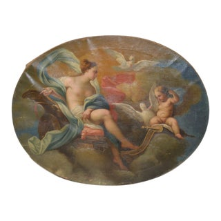 Aurora With Putti Original Oil Painting 18th to 19th Century For Sale