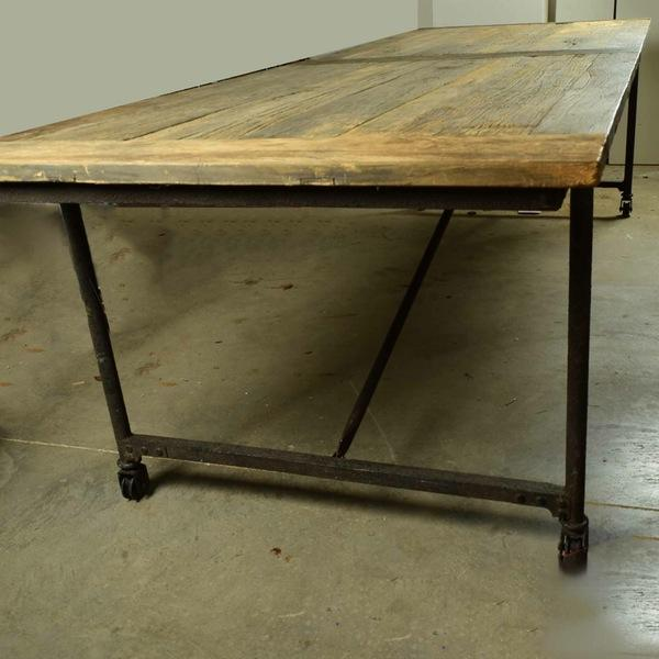 Restoration Hardware Restoration Hardware Reclaimed Elm Dining Table For Sale - Image 4 of 5