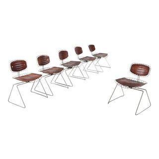 Centre Pompidou Beauburg Chairs Selected by Jean Prouvé For Sale