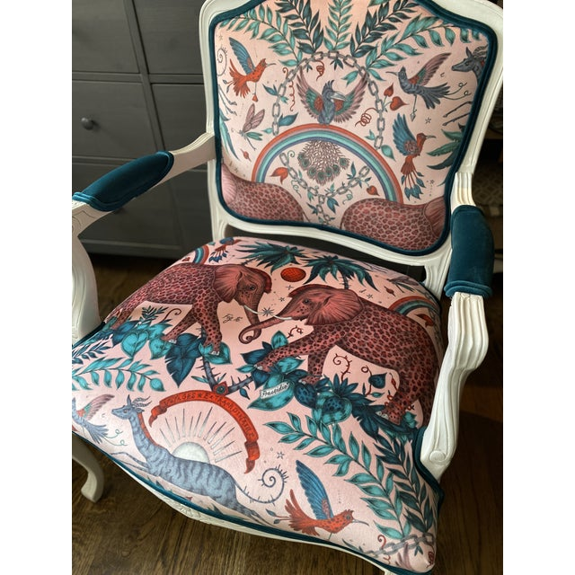 Mid 20th Century Vintage French Provincial Arm Chairs - a Pair For Sale - Image 5 of 10