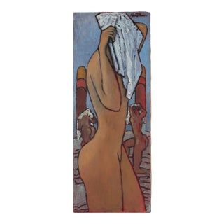 Modernist Female Nude, Oil on Canvas Painting, 2007