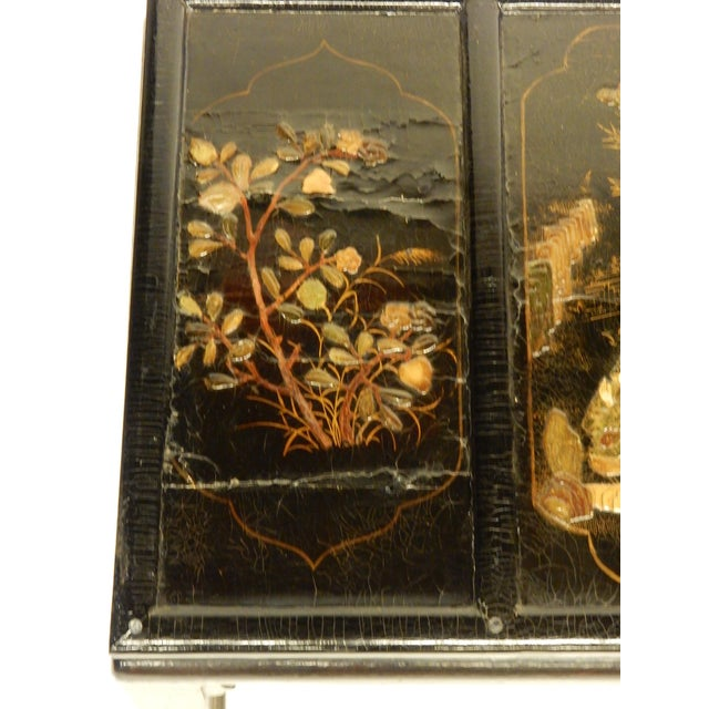 Paint Lacquered Chinoiserie Coffee Table For Sale - Image 7 of 11