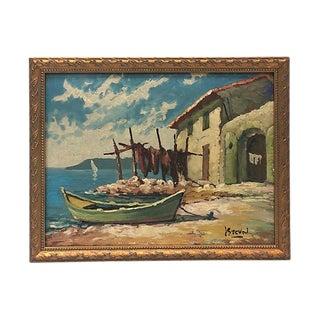 1950s French Rivera Seascape For Sale