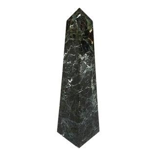 1970s Modern Black Marble Obelisk For Sale