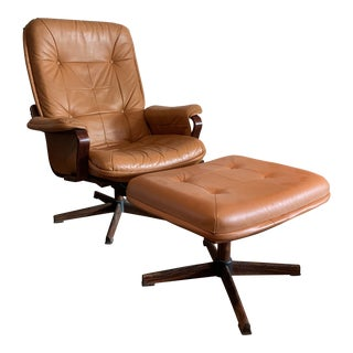 1970s Vintage Gotè Mobler Lounge Chair and Ottoman For Sale
