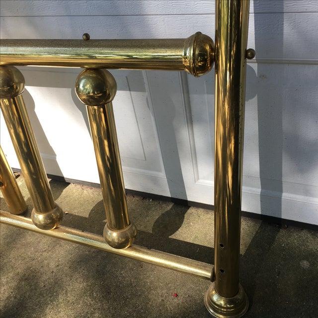 Vintage Twin Brass Headboard & Footboard For Sale - Image 10 of 10
