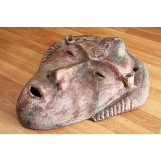 Antique South America Earthenware Mask Preview