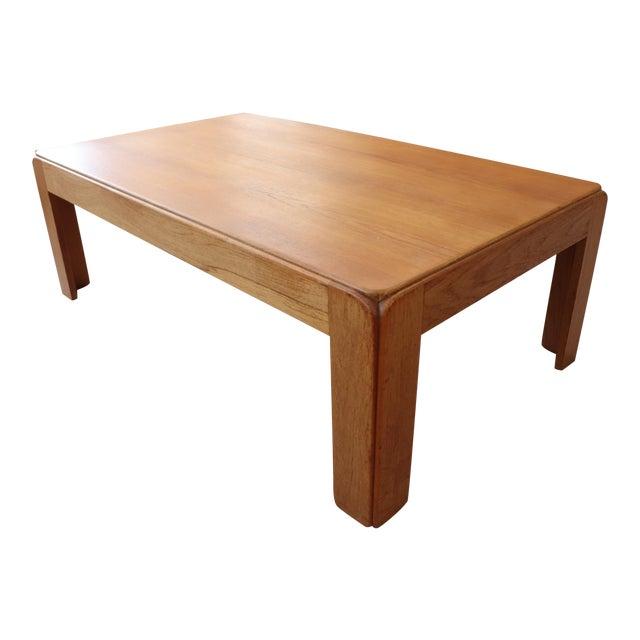 Danish Modern Niels Eilersen Solid Teak Coffee Table For Sale