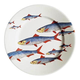 Piero Fornasetti Fish Plate, Passata De Pesce (Passage of Fish), Circa 1950s. For Sale