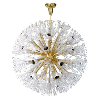 Emil Stejnar 32-Light Austrian Chandelier for Rupert Nikoll For Sale