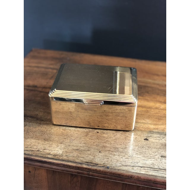 Engine Turned Art Deco Brass Box For Sale - Image 10 of 10
