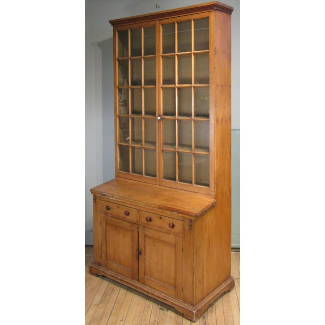 Antique 19th Century Pine Secretary Bookcase Desk For Sale - Image 4 of 8