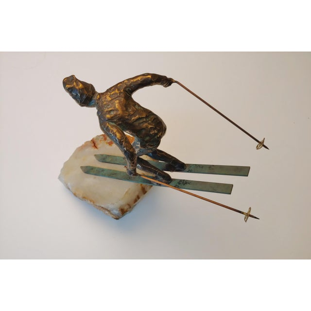 Vintage Curtis Jere Skier Sculpture For Sale In Baltimore - Image 6 of 11