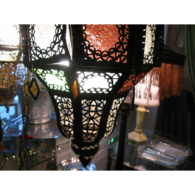 Antique Hanging Moroccan Lanterns - A Pair - Image 8 of 9