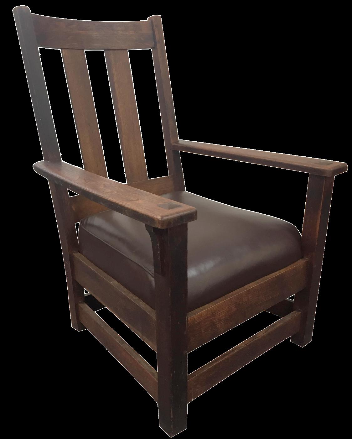 Limbert Mission Style Oak Lounge Chair