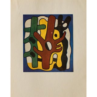 "1948 Fernand Léger ""Composition"" Original Period Parisian Lithograph For Sale"