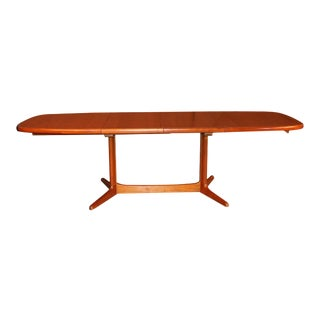 Danish Mid Century Teak Expandable Dining Table For Sale