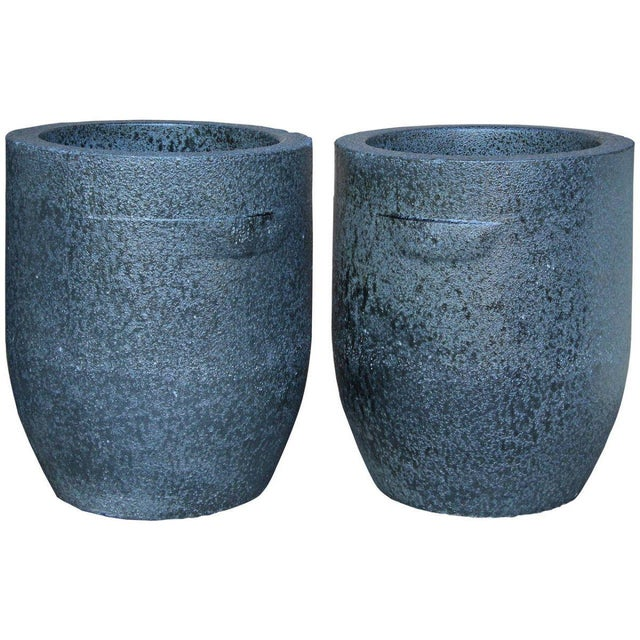 Large Heavy Smelting Crucibles - a Pair For Sale - Image 11 of 11
