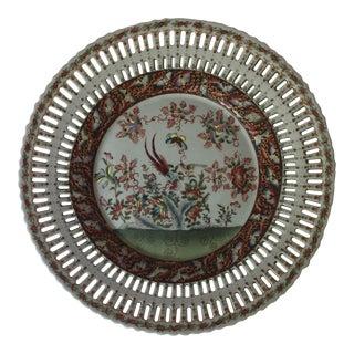 Vintage Butterfly Floral Platter