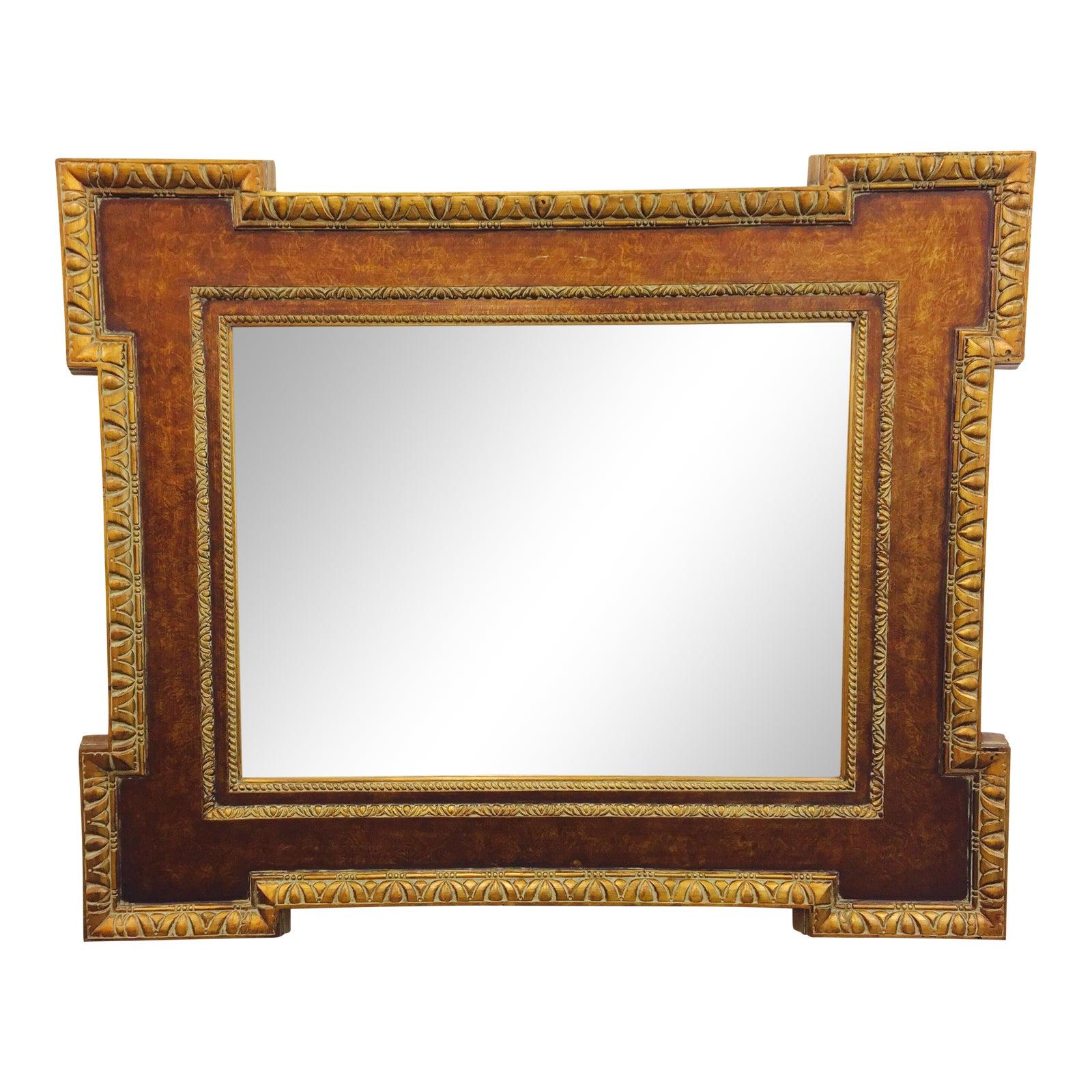 Vintage Gilt Frame Beveled Mirror   Chairish