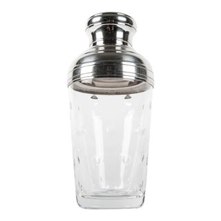 Mid Century Saint Louis Crystal Cocktail Shaker For Sale