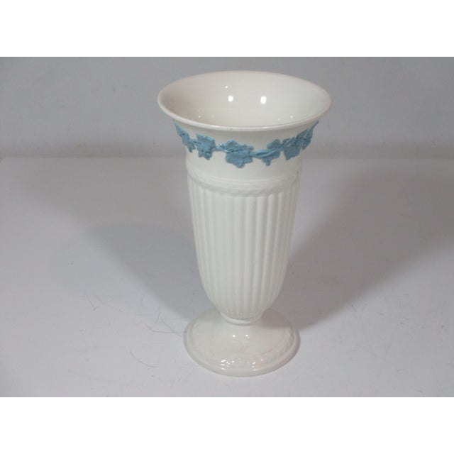 Wedgwood Vintage Wedgwood Queens Ware Vase For Sale - Image 4 of 7