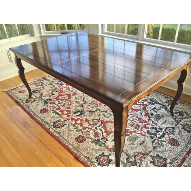 2000 - 2009 French Country Distressed Dining Table For Sale - Image 5 of 10