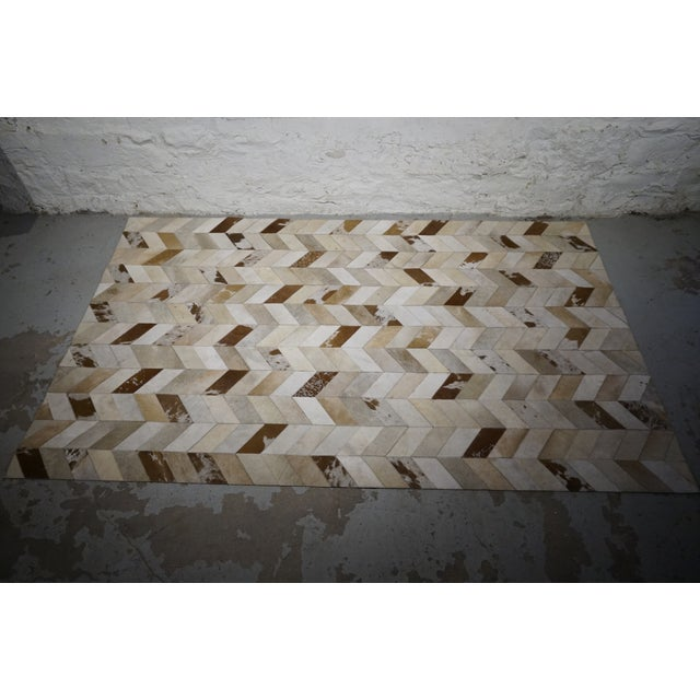 Contemporary Hair on Hide Rug - 5′ × 8′ - Image 2 of 5