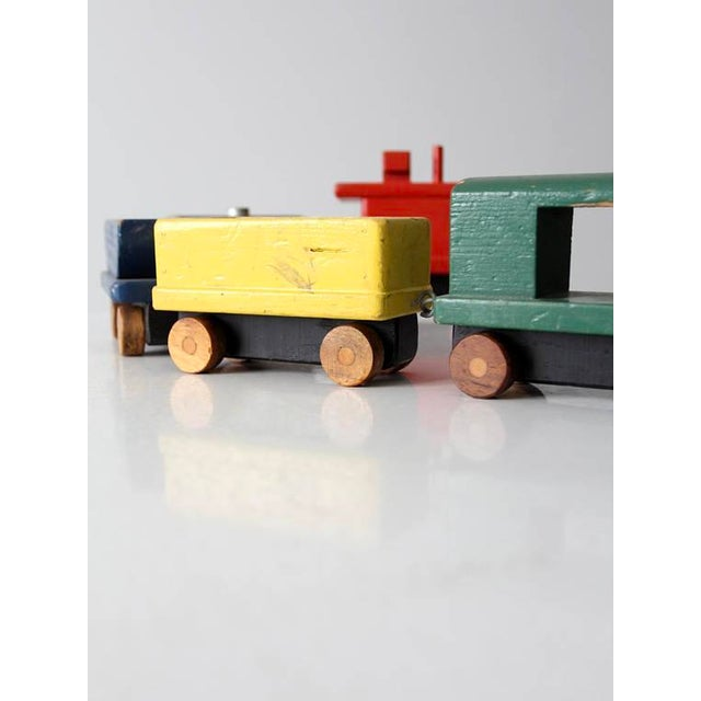 Wood Vintage Wooden Toy Train For Sale - Image 7 of 8