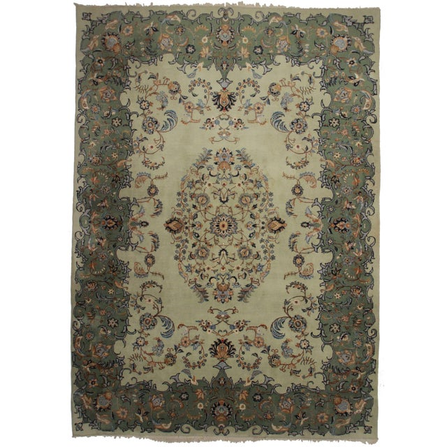 """Persian Kashan Rug - 9'8"""" x 13'7"""" For Sale"""