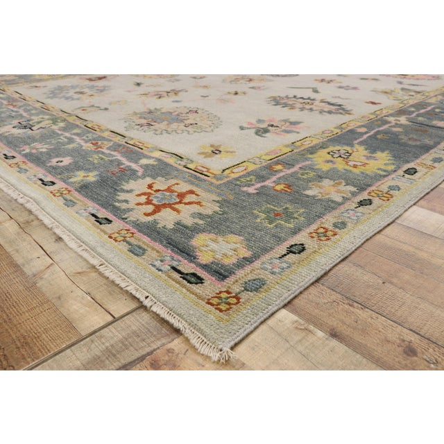 Contemporary Oushak Transitional Area Rug - 9′ × 12′7″ For Sale In Dallas - Image 6 of 10